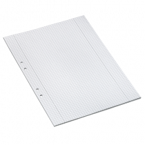 Arbetsblad A4 rutat 5x5 mm 500/fp