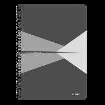 Anteckningsbok Leitz Office A4 rutat grå