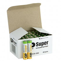 Batteri GP Super Alkaline AAA 40/fp