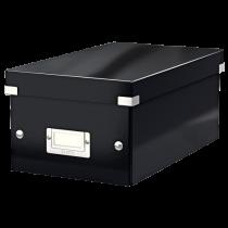 Förvaringslåda Click & Store DVD svart