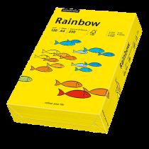Färgat papper Rainbow A4 120 g intensivgul 250/fp