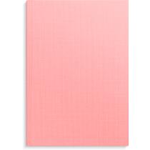 Anteckningsbok Burde ljusrosa linnetextil linjerad A5