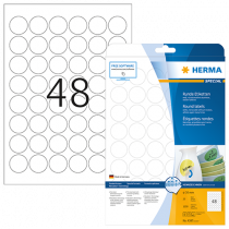Avtagbara etiketter Herma Ø 30 mm 1200/fp